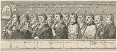 Twaalf leden van de Jeruzalembroederschap te Haarlem