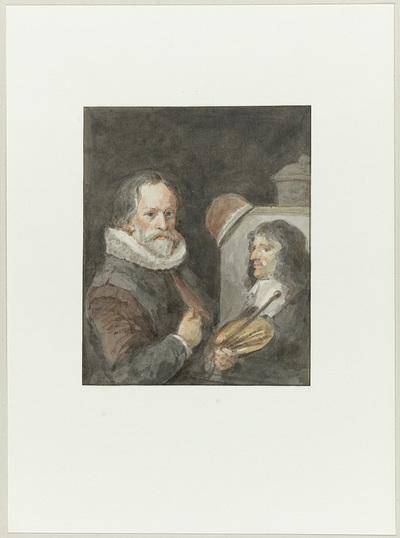Portret van Michiel van Mierevelt, terwijl hij Jacob Willemsz. Delff schildert