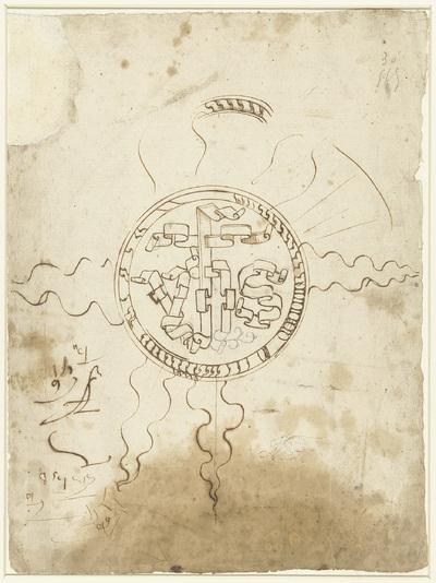 Image from object titled Christusmonogram in een stralenkrans