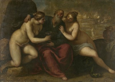 Image from object titled Lot and his Daughters