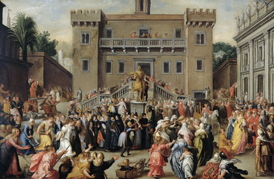 Image from object titled The Women of Rome Gathering at the Capitol
