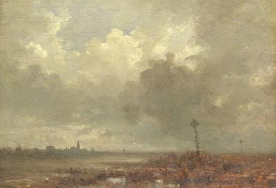 Image from object titled Riviergezicht bij avond