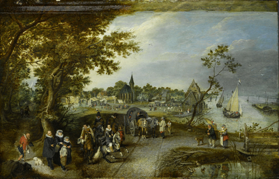 Image from object titled Landscape with Figures and a Village Fair (Village Kermesse)