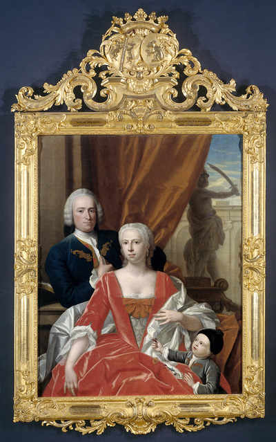Image from object titled Berend van Iddekinge (1717-1801) with his Wife Johanna Maria Sichterman (1726-1756) and their Son Jan Albert (b 1744)