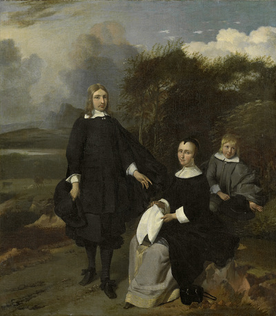 Image from object titled Family in a Landscape