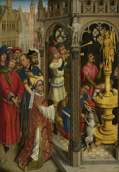 Image from object titled Augustine Sacrificing to an Idol of the Manichaeans (?)
