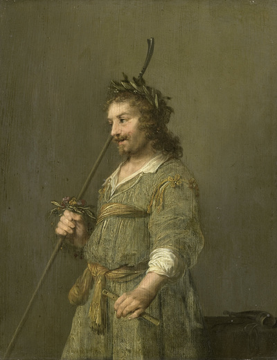 Image from object titled Portrait of a man dressed as a shepherd; Portrait of a man dressed as a shepherd: known as the portrait of Joost van den Vondel (1587-1679)