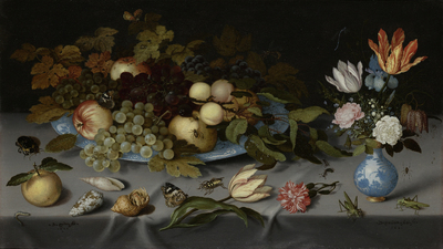 Image from object titled Still Life with Fruit and Flowers