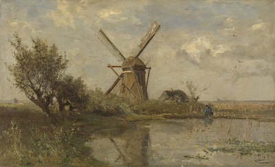 Image from object titled Windmill on a Pond