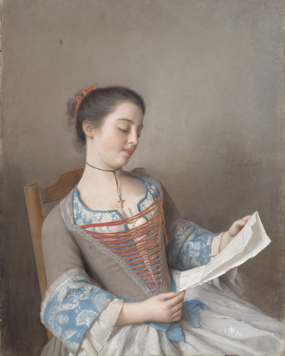 Image from object titled The Artist's Niece, Marianne Lavergne, Known as 'La Liseuse'