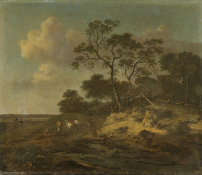 Image from object titled Dune Landscape with Hunters Resting