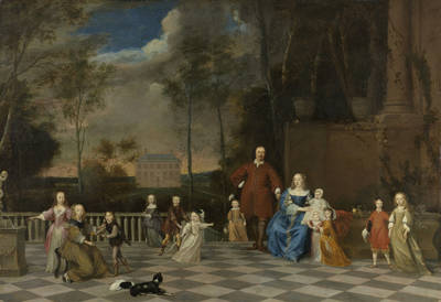 Image from object titled The Amsterdam Merchant Jeremias van Collen (1619-1707) with his Wife and their Twelve Children