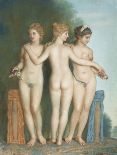 Image from object titled The Three Graces, after the Antique Marble Group in the Galleria Borghese, Rome