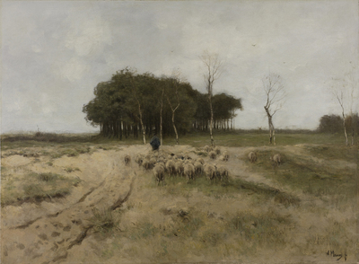 Image from object titled On the Heath near Laren