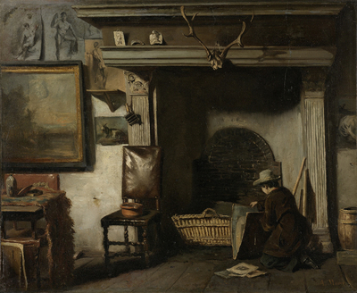 Image from object titled The Studio of the Haarlem Painter Pieter Frederik van Os