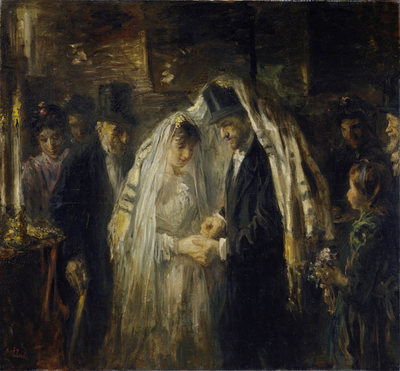 Image from object titled Jewish Wedding; Jewish Wedding, Thought to be the Wedding of the Artist's Daughter Mathilde and G.D. Cohen Tervaert, 1903