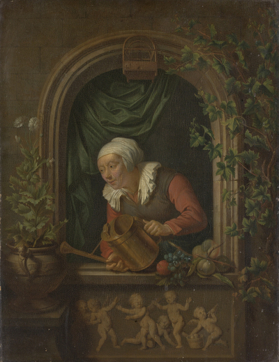 Image from object titled Woman Watering a Plant