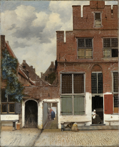 Image from object titled View of Houses in Delft, Known as The Little Street