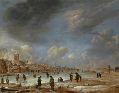 Image from object titled River view in the winter