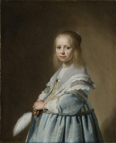 Image from object titled Portrait of a Girl Dressed in Blue