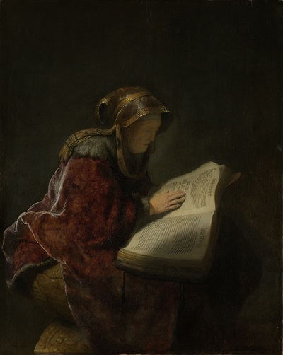 Image from object titled An Old Woman Reading, Probably the Prophetess Hannah