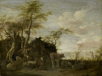 Image from object titled A herdsman's hut