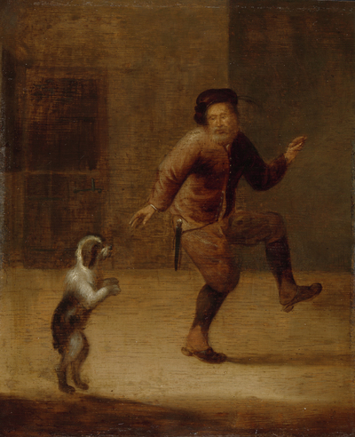Image from object titled A Man Dancing with a Dog