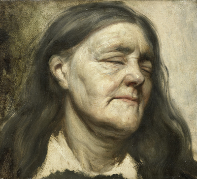 Image from object titled Study of an Old Woman