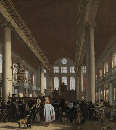 Image from object titled Interior of the Portuguese Synagogue in Amsterdam