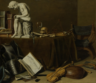 Image from object titled Vanitas Still Life with the Spinario
