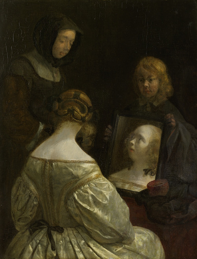 Image from object titled Woman at a Mirror