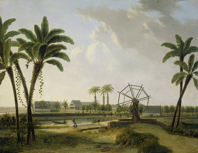 Image from object titled View of the Coffee Plantation Marienbosch in Surinam; View of the Meerzorg Coffee Plantation on the Taparoepi Canal in Surinam?