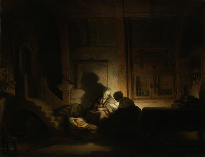 Image from object titled The Holy Family at Night