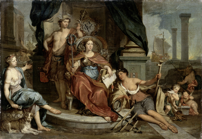 Image from object titled Apotheosis of the Dutch East India Company (Allegory of the Amsterdam Chamber of Commerce of the VOC)