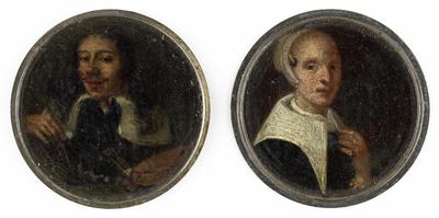 Image from object titled Zelfportret van Johann Philip Lembke en een portret van zijn vrouw