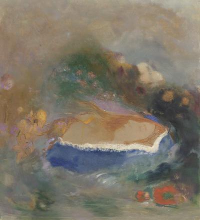 Image from object titled Ophélie, la cape bleue sur les eaux