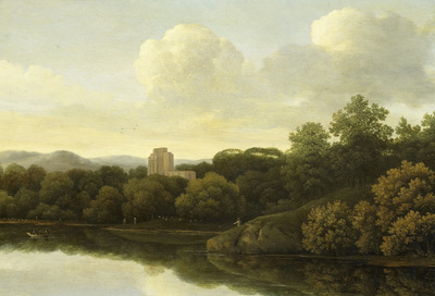 Image from object titled Wooded Landscape with River