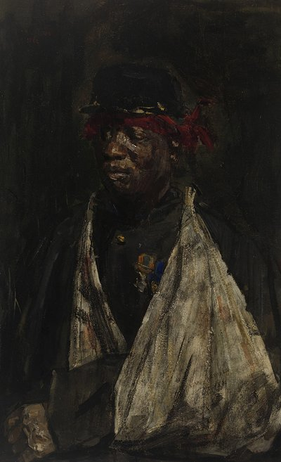 Image from object titled Portrait of a Wounded KNIL Soldier