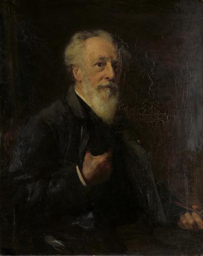 Image from object titled Portret van J.A.B. Stroebel (1821-1905), kunstschilder