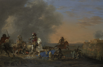 Image from object titled Cavalry Attack at Sunset