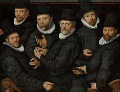 Image from object titled Six Wardens of the Drapers' Guild