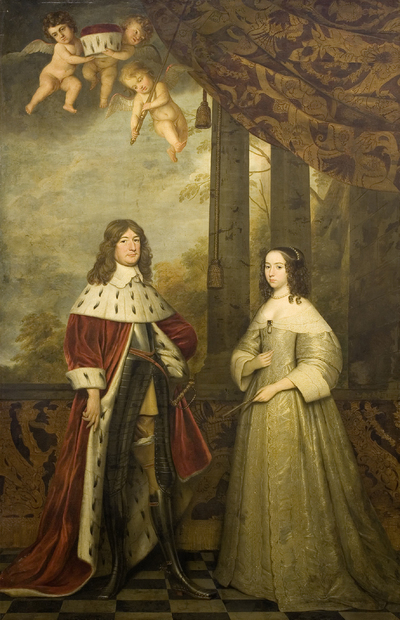 Image from object titled Portrait of Friedrich Wilhelm, Elector of Brandenburg, and his Wife Louise Henriette, Countess of Orange-Nassau