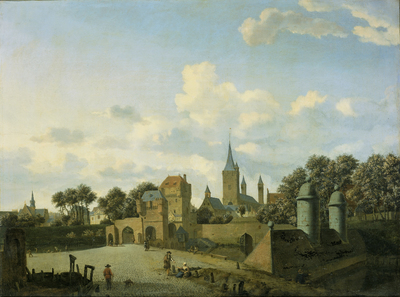 Image from object titled The Church of St Severin in Cologne in an Imaginary Setting