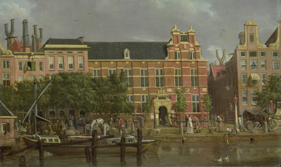 Image from object titled The Latin school on the Singel, Amsterdam