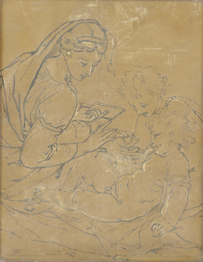 Image from object titled Madonna and Child with St John