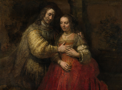 Image from object titled Portrait of a Couple as Isaac and Rebecca, known as 'The Jewish Bride'