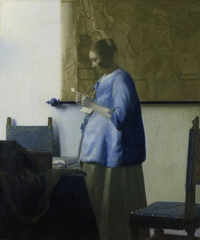 Image from object titled Woman Reading a Letter
