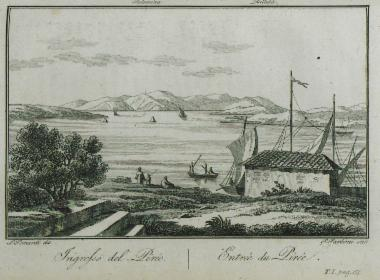 Image from object titled View of the port of Piraeus.
