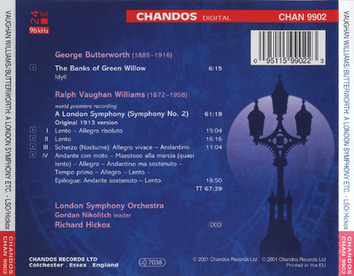 The banks of Green Willow (symphony No. 2) / Ralph Vaughan Williams ; [tutti] London Shymphony Orchestra ; Richard Hickox