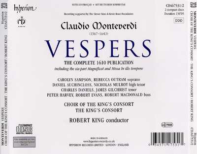 Vespers the complete 1610 publication : including the six-part Magnificat and Missa in illo tempore